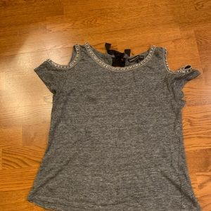 Generation Love Cold Shoulder Grey with Jewels